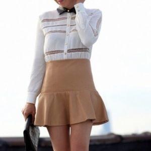 Self-Portrait Dress Lace Trimmed Shirt Dress Sz6